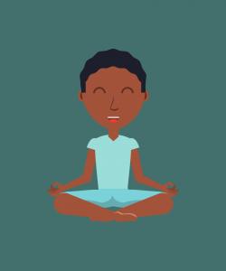 Jeune garçon yoga